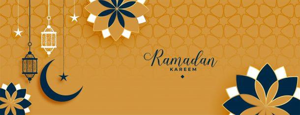islamic style ramadan kareem and eid decorative banner design